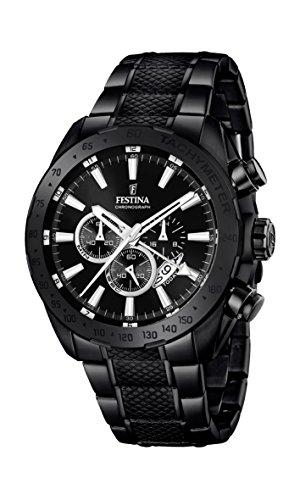 Festina Herren Chronograph Quarz Uhr mit Edelstahl beschichtet Armband F16889/1