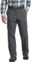 Dickies Men's Ripstop Cargo Pant Regular Straight Fit, Rinsed Charcoal, 34 32