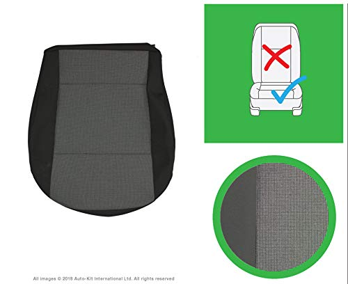 INKA Austin Titanium Black Front and Rear Seat Covers - to fit VolksWagen Transporter T6, T5.1 Panel Van and Kombi (Front Single Cushion)