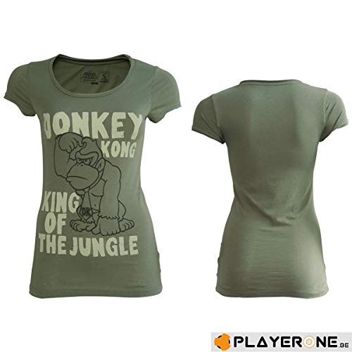 Women's Official Donkey Kong King of the Jungle T-shirt, 100% Official, Sizes S, 10, 14