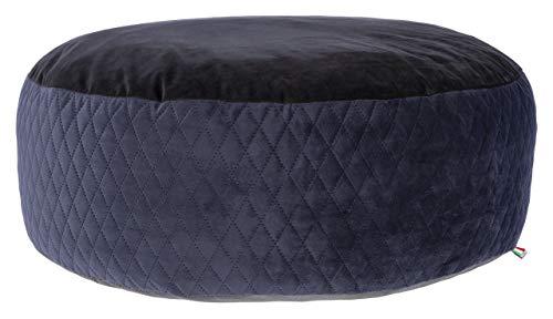 Maxi-Pet 80391 Liegekissen Pouf, durchmesser 80x25cm, schwarz/blau
