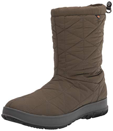 Bogs Womens Snowday Mid Snow Boot, Dark Green, Size 10