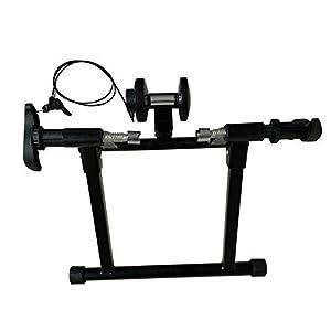 Joyfitness Rodillo de Ciclismo Indoor Bike Trainer Stand Magnet Magnetic Resistance Bike Cycling Roller,Black