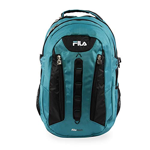 Fila Vertex Tablet and Laptop Backpack School, Teal, One Size