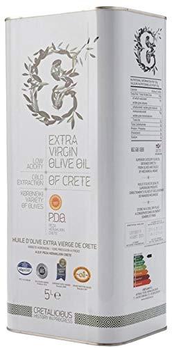 Cretalicious P.D.O. Olivenöl von Kreta | Extra natives Olivenöl aus Griechenland | Premium Qualität | Geschützte Ursprungsbezeichnung | Geringer Säuregehalt < 0,6% (5,0l)