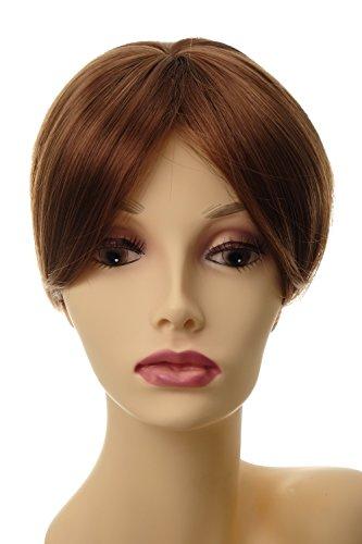 WIG ME UP ® - Postiche extension remplacement cheveux clip-in env. 20 cm brun cuivré L008-30