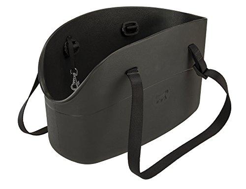 Ferplast 79505017 Hundetragetasche, Maße: 43,5 x 21,5 x 27 cm, schwarz