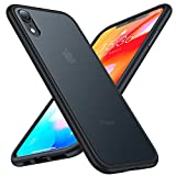 TORRAS Shockproof iPhone XR Case [6FT Military Grade Drop Protection] Upgraded Slim Fit Hard iPhone XR Cases with Non-Slip Silicone Bumper, Translucent Matte Thin iPhone XR Phone Case, Frost Black