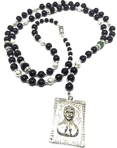 Jesus Malverde's rosary necklace. Rosario de la Jesus Malverde. Y style necklace