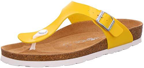 Rohde Alba 5610 Damen Schuhe Zehentrenner Pantoletten Weite G, Schuhgröße:39 EU, Farbe:Gelb