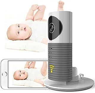 Mini cámara IP wifi Cadrim 720P inalámbrica de vigilancia Wi-Fi con monitor para vigilar al bebé cámara de seguridad con visión nocturna giratoria plug & play.