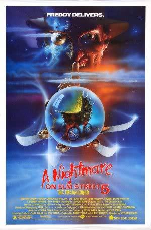 Nightmare ON ELM Street 5 - The Dream Child – Movie Wall Poster Print – A4 Size Plakat Größe Freddy Krueger