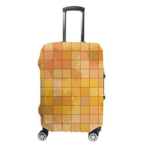 Ruchen - Funda protectora para maleta, diseño de mosaico naranja