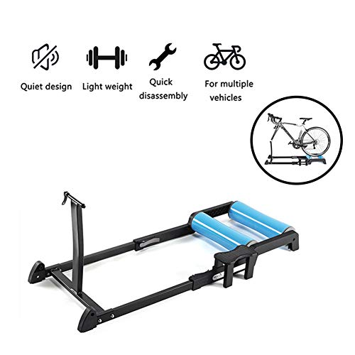XLNB Draagbare Bike Trainer Stand Binnen Opvouwbare Bike Resistance Trainers Silent Roller Anti-lip Stabiele En Duurzame Stationaire Oefening Stand Training