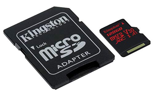 Kingston Microsd Canvas React Sdcr 128 Gb Klasse 10 Geheugenkaart Met Adapter, Ideaal Voor Serieopnames En 4K Video