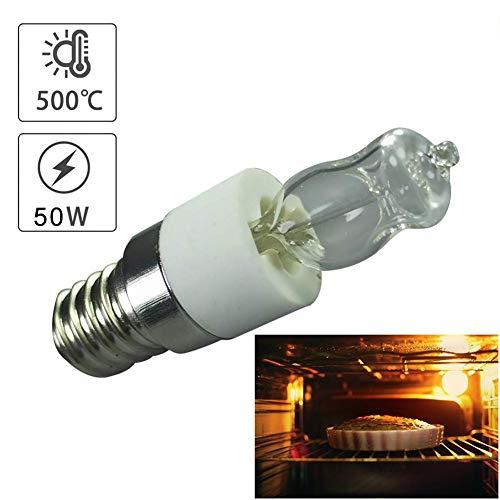 Sue-Supply 4pcs Ofenglühbirne E14 Backofenlampe 500℃ Mikrowellen Ofen Glühbirne 50 W, Eingangsspannung 220-240V, Ersatzbirne für Öfen, elektrische Ventilatoren, Mikrowellen, Kühlschränke