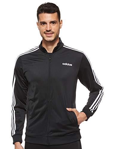 Adidas Essentials 3 Stripes Tricot Track Top, Tops Uomo, Black/White, M