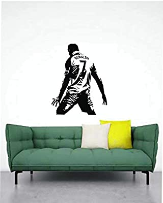 Madhuban Décor The Great Football Player Ronaldo's Decals Sticker for Home (59x77cm)