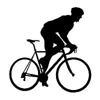 ステッカー 車のステッカーパーソナライズされたファッション自転車モデル車の装飾アクセサリーステッカー創造的防水ブラック/ホワイト、13cm * 12cm (Color : Black)