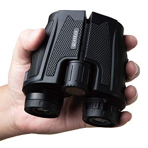 12x25 HD High Power Compact Binoculars with Clear Weak Light Vision. Lightweight (0.6 lbs.) Binoculars for Adults & Kids, Large Eyepiece Binocular for Bird Watching, Hunting, Concerts, Travel. (12x25)