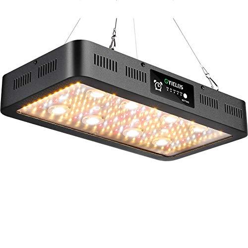 Lámpara De Planta De 2400 W, Lámpara De Cultivo De Invernadero De Chips LED COB Y SMD De Espectro Completo Similar Al Sol Para Plantas De Interior Con Interruptor Dual Temporizador