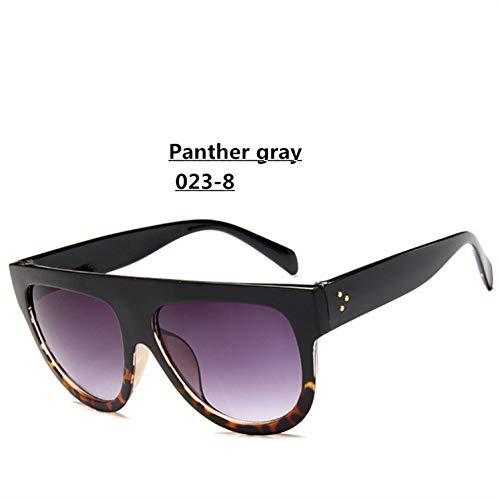 YIERJIU Gafas de Sol Lady Flat Top Gafas de Sol de Gran...