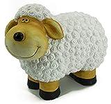 Bambelaa! Schaf Deko Figur Garten Gartenfigur Groß Für Außen und Innen Zum Stellen ca. 31 x 13 x 23 cm Schwarz Weiß