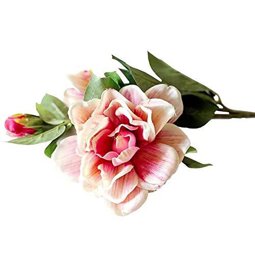 Jia Hu 12 elegante künstliche Callas Blumen Haus Pflanzen Arrangements Hochzeit Home Dekoration Grün