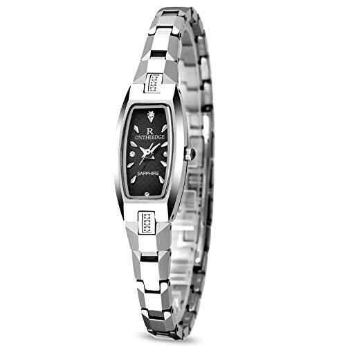 RORIOS Elegant Damen Armbanduhren Analog Quarzuhr Armband Tungsten Stahlband wasserdichte Armbanduhr