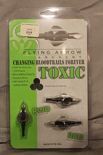 Flying Arrow Archery Toxic Broadheads, 100 Grain, 3 Pack