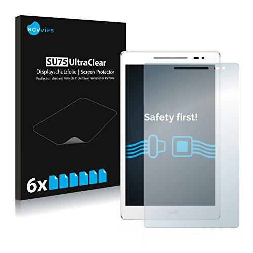 Savvies 6X Schutzfolie kompatibel mit Asus ZenPad 8.0 Z380 KL Bildschirmschutz-Folie Ultra-transparent