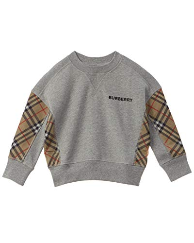 BURBERRY Kids Boy's Hamilton Sweatshirt (Little Kids/Big Kids) Grey Melange 3 Years