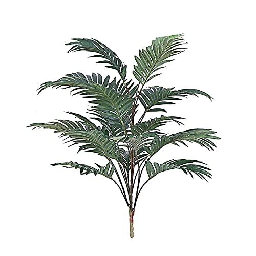 Flueyer - Decorazione artificiale per albero di cocco, per interni con foglie verdi, piante finte alte per interni ed esterni, casa, ufficio, giardino, decorazione