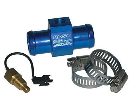 Koso Wassertemperaturadapter für Ø14mm Schlauch