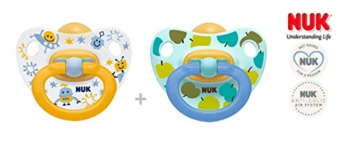 NUK Schnuller Happy Kids Latex 6-18 M 2 Stück