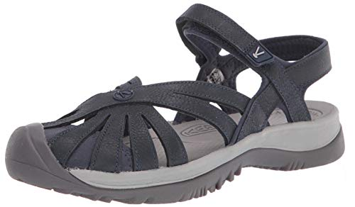 Keen Damen Rose Casual Closed Toe Sandale, blau, 41 EU