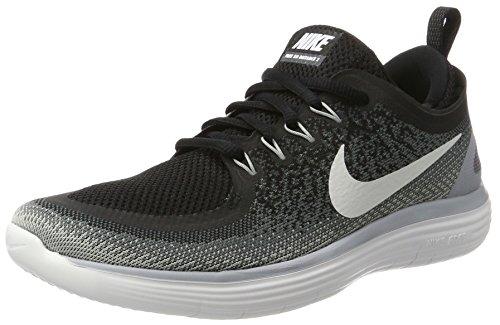 Nike Womens Free Rn Distance 2 Black/White Cool Grey Running Shoe Size 6