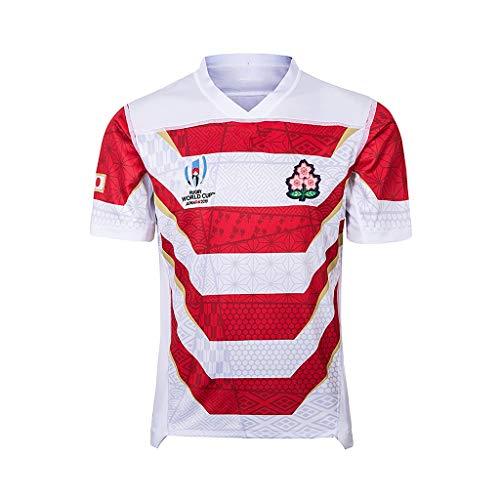 Team Japan, Rugby-Trikot, Weltmeisterschaft, Home Edition, Stoff Bestickt, Sportswear 2019 Rugby-Weltmeisterschaft (Size : S)