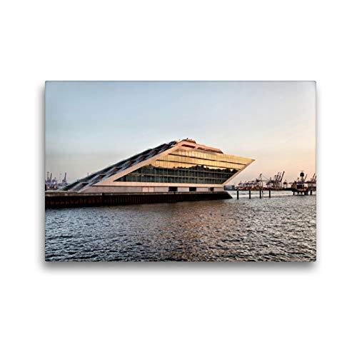 CALVENDO Premium Textil-Leinwand 45 x 30 cm Quer-Format Dockland, Leinwanddruck von FotoDeHRO
