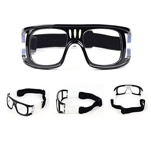 SIKOYA Schutzbrille Männer Frauen und Jugend Sportbrille Verstellbarer Riemen für Basketball Fußball Hockey Rugby Baseball Fußball Volleyball
