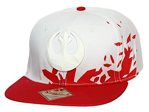 Star Wars Rebels Logo Ep8 Resistance Adjustable Adult Snapback Cap Red