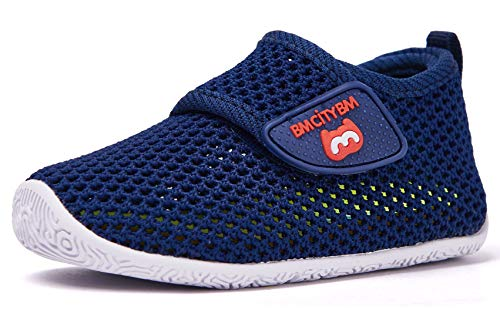 BMCiTYBM Baby Sneakers Girl Boy Tennis Shoes First Walker Shoes 12-18 Months Navy