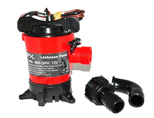 Saarwebstore Johnson Pump L-Serie Bilgepumpe L450 12V / 2,5A 2400l/min Föderhöhe max. 2,5m Saugkorb Lenzpumpe Wasserpumpe Tauchpumpe