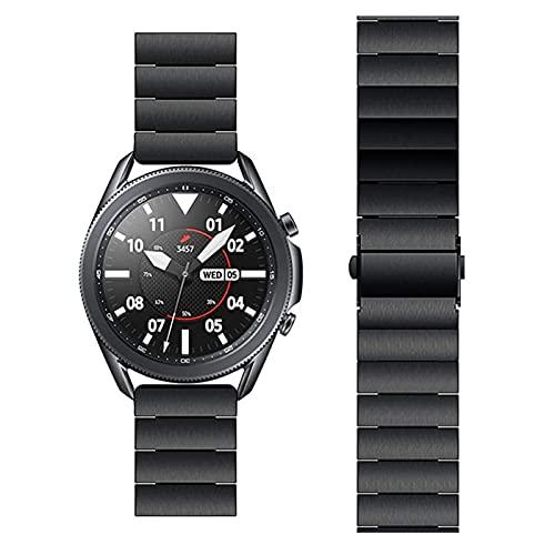 YYCHER Correas de reloj para Samsung Galaxy Watch 3 Band 45 mm Acero Inoxidable Bandas Reemplazo para Samsung Watch 3 Band Butterfly Metal (Color: Negro, Tamaño: 22 mm para 45 mm 46 mm)