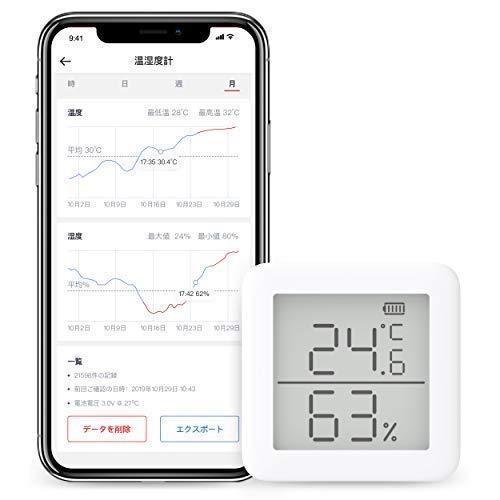 SwitchBot スイッチボット デジタル 温湿度計 スマート家電 – 高精度 スイス製センサースマホで温度湿度管...