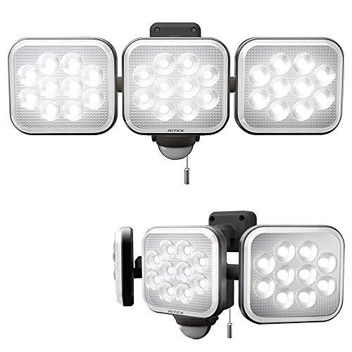 プロモート フリーアーム式LEDセンサーライト (12W 3灯) コンセント式 防雨型 取寄品 LED-AC3036DS