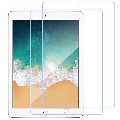 【2枚セット】iPad 9.7 インチ ガラスフィルム 日本旭硝子製/硬度9H/高透過率/飛散防止/気泡防止/指紋防止/3Dタッチ iPad 9.7対応 強化ガラス 液晶保護フィルム iPad 9.7(2018 第6世代/ 2017年 第5世代) / iPad Pro 9.7 / iPad Air 2(2014)/ iPad Air(2013)(9.7 インチ用)