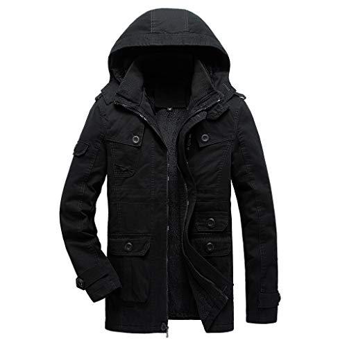 Hotopick gewatteerde werkjas in overmaat heren mantel wintermantel elegant korte mantel herfst/winterjas