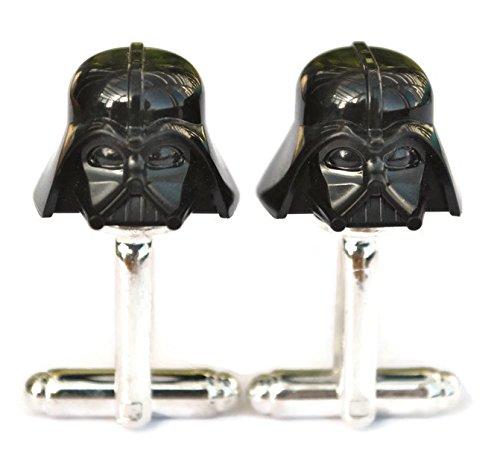 Darth Vader Star Wars Manschettenknöpfe handgefertigt von Lego® Minifigurenköpfe, Hochzeit, Bräutigam, Herrenschmuck, Geschenktasche