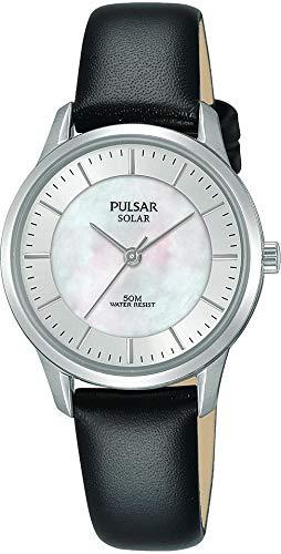 Pulsar Reloj analogico para Mujer de Energía Solar con Correa en Piel PY5043X1
